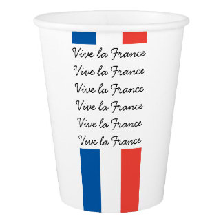Bandera francesa, la Francia, fiesta de Vive del Vaso De Papel