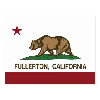 Bandera Fullerton del estado de California Tarjeta Postal