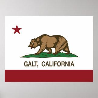 Bandera Galt del estado de California Póster