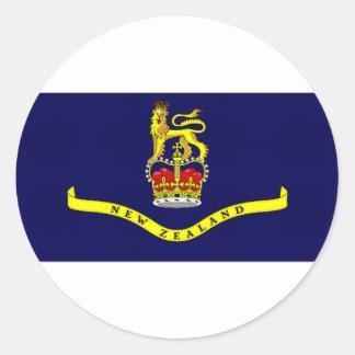 Bandera general del gobernador de Nueva Zelanda Pegatina Redonda