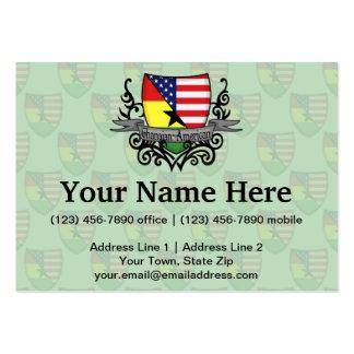 Bandera Ghanés-Americana del escudo Tarjetas De Visita Grandes