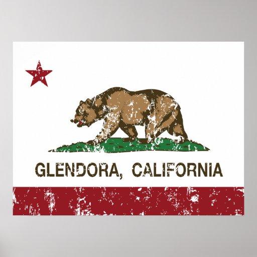 Bandera Glendora del estado de California Impresiones