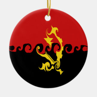 Bandera Gnarly de Angola Ornamentos De Reyes Magos