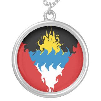 Bandera Gnarly de Antigua y de Barbuda Colgante Personalizado