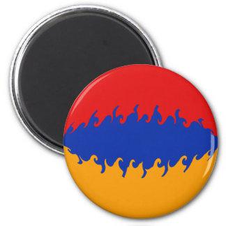 Bandera Gnarly de Armenia Imán De Frigorifico