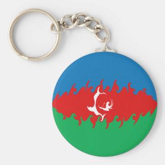 Bandera Gnarly de Azerbaijan Llaveros