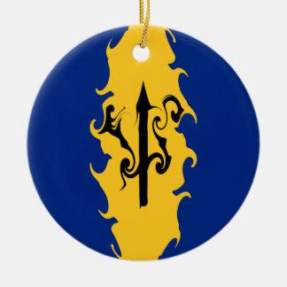 Bandera Gnarly de Barbados Adornos De Navidad
