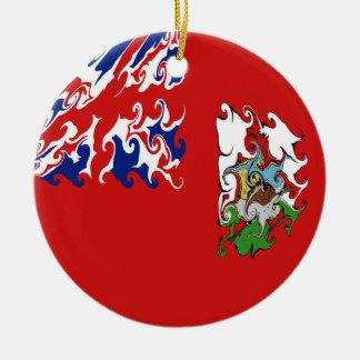 Bandera Gnarly de Bermudas Ornamento De Navidad