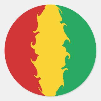 Bandera Gnarly de Conakry de Guinea Pegatinas Redondas