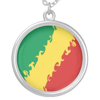 Bandera Gnarly de Congo-Brazzaville Collar Plateado