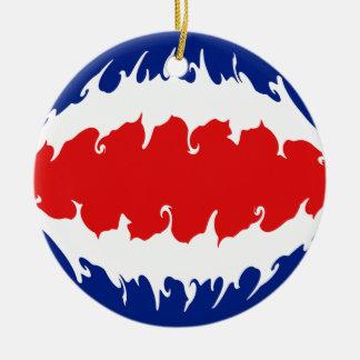 Bandera Gnarly de Costa Rica Ornamente De Reyes