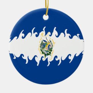 Bandera Gnarly de El Salvador Ornamento De Navidad