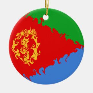 Bandera Gnarly de Eritrea Adornos De Navidad
