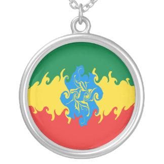 Bandera Gnarly de Etiopía Collar Plateado