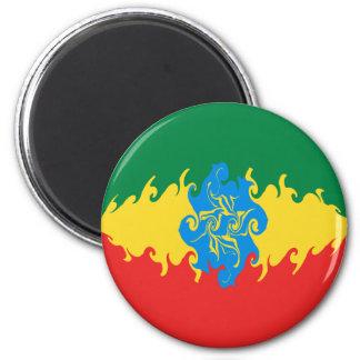 Bandera Gnarly de Etiopía Imán De Frigorífico