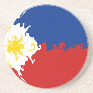 Bandera Gnarly de Filipinas Posavasos Cerveza