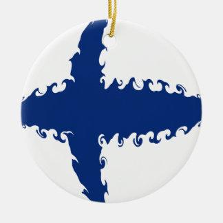 Bandera Gnarly de Finlandia Ornamentos De Reyes Magos