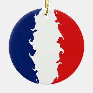 Bandera Gnarly de Francia Adorno Redondo De Cerámica