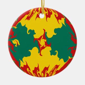 Bandera Gnarly de Grenada Adorno De Navidad
