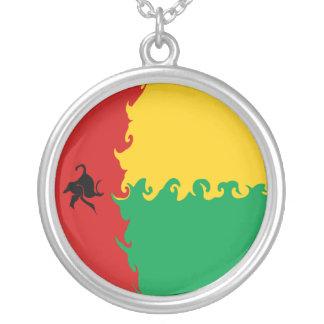 Bandera Gnarly de Guinea-Bissau Colgante Redondo
