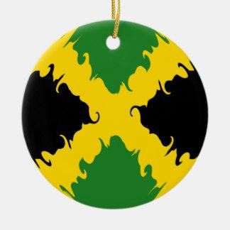 Bandera Gnarly de Jamaica Ornamento De Navidad