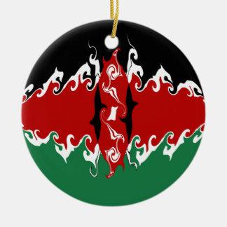 Bandera Gnarly de Kenia Ornamentos Para Reyes Magos