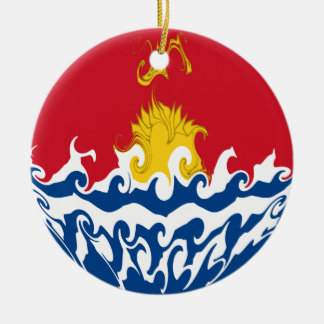 Bandera Gnarly de Kiribati Adorno De Navidad