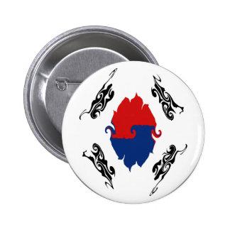 Bandera Gnarly de la Corea del Sur Pins