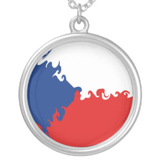 Bandera Gnarly de la República Checa Colgante Redondo