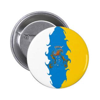 Bandera Gnarly de las islas Canarias Chapa Redonda De 5 Cm