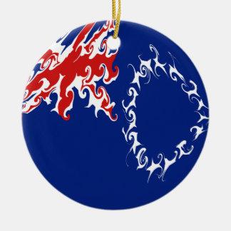 Bandera Gnarly de las islas de cocinero Ornamento Para Arbol De Navidad