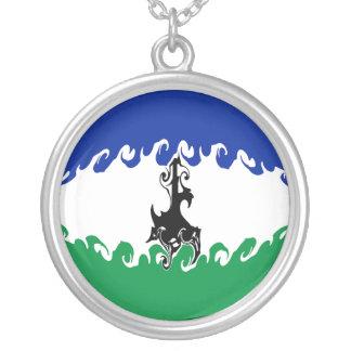 Bandera Gnarly de Lesotho Collar Personalizado