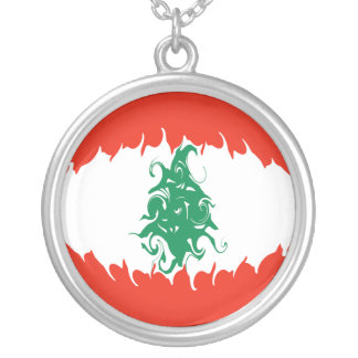 Bandera Gnarly de Líbano Colgante Redondo