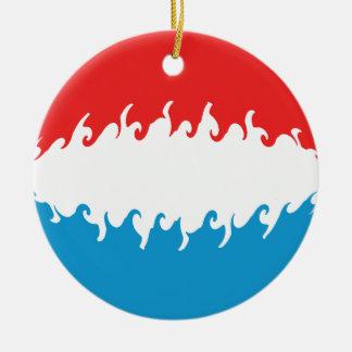 Bandera Gnarly de Luxemburgo Ornamento De Reyes Magos