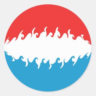 Bandera Gnarly de Luxemburgo Etiquetas Redondas