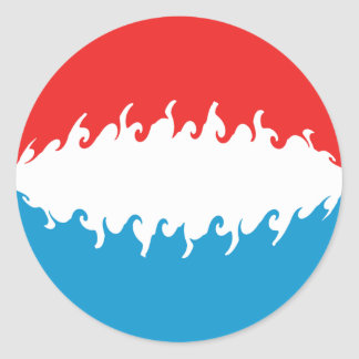 Bandera Gnarly de Luxemburgo Pegatina Redonda