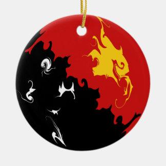 Bandera Gnarly de Papúa Nueva Guinea Adornos De Navidad