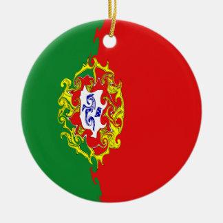 Bandera Gnarly de Portugal Ornamento De Reyes Magos