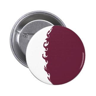 Bandera Gnarly de Qatar Chapa Redonda De 5 Cm