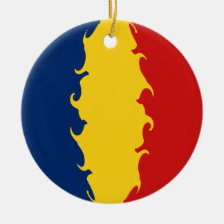 Bandera Gnarly de República eo Tchad Ornamentos Para Reyes Magos