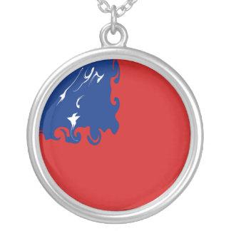 Bandera Gnarly de Samoa Collares Personalizados