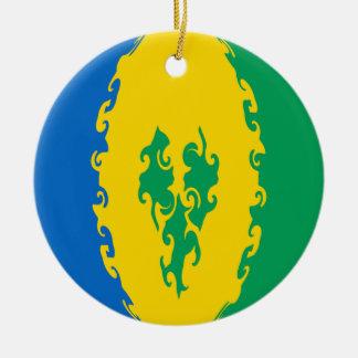 Bandera Gnarly de San Vicente y las Granadinas Ornamentos De Reyes