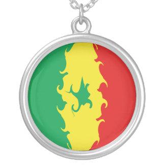 Bandera Gnarly de Senegal Colgante Redondo