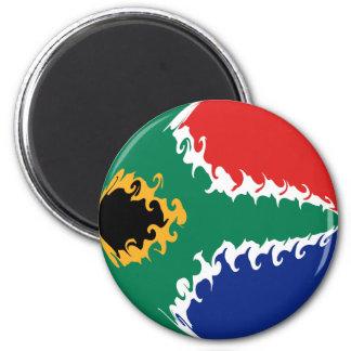 Bandera Gnarly de Suráfrica Imán Redondo 5 Cm