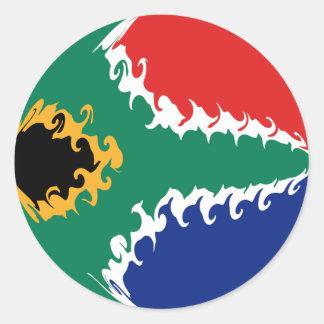 Bandera Gnarly de Suráfrica Pegatina Redonda