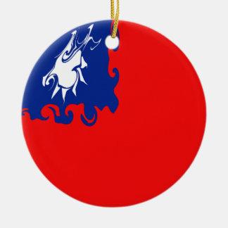 Bandera Gnarly de Taiwán Ornamentos De Reyes Magos