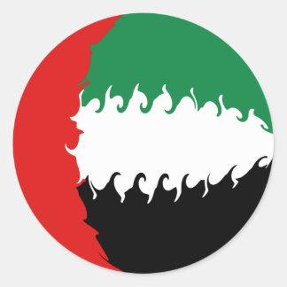 Bandera Gnarly de United Arab Emirates Pegatina Redonda