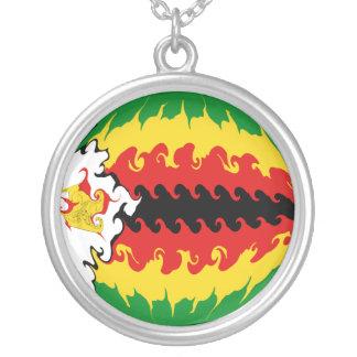 Bandera Gnarly de Zimbabwe Collar Personalizado