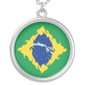 Bandera Gnarly del Brasil Collares Personalizados