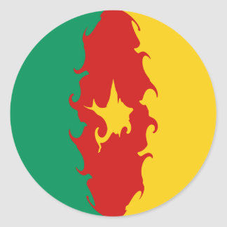Bandera Gnarly del Camerún Pegatinas Redondas